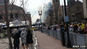 The explosion near the Boston Marathon