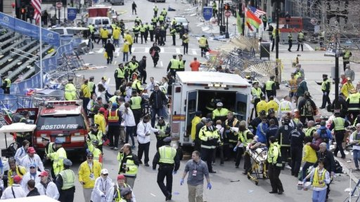 Scene of Boston blasts