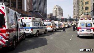 Ambulances in Boston