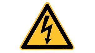 Danger of electric shock sign