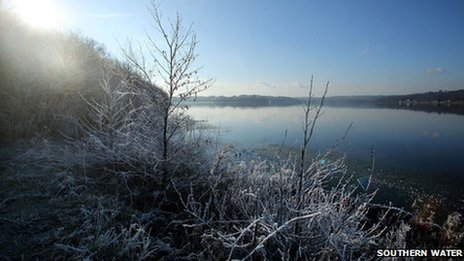 Bewl Water in January 2013