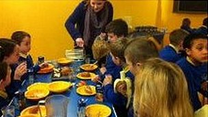 Free breakfast at Devonshire Road School in Blackpool