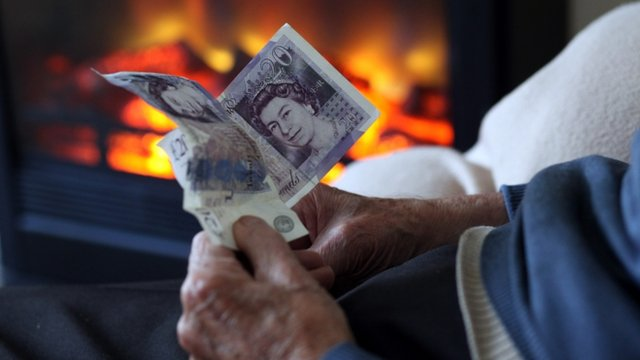 A pensioner by the fire