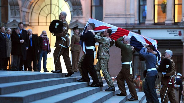 Rehearsal for Baroness Thatcher's funeral