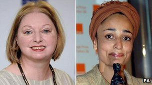 Hilary Mantel and Zadie Smith