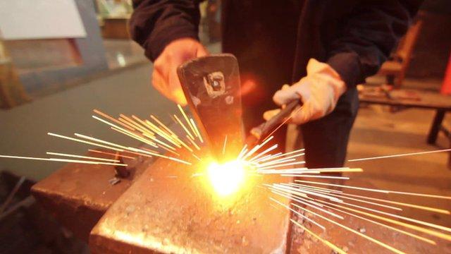 Man making scissors