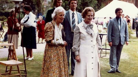 Professor Dorothy Hodgkin and Margaret Thatcher