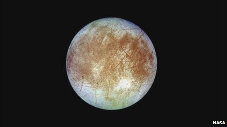 Europa, the sixth satellite moon of Jupiter