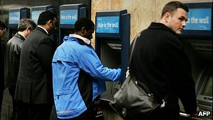 Cashpoint in London - file pic