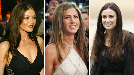 Catherine Zeta Jones, Jennifer Aniston, Demi Moore