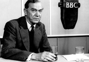 Graham Greene recording for the BBC