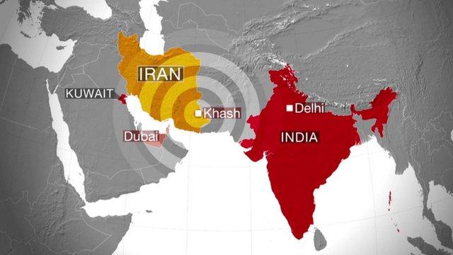 Iran map graphic