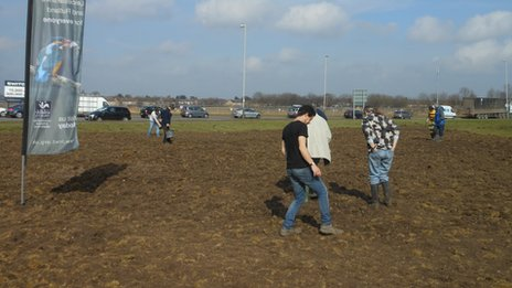 Volunteers planted different wildflowers and grasses including cowslip, yarrow, red campion and buttercup