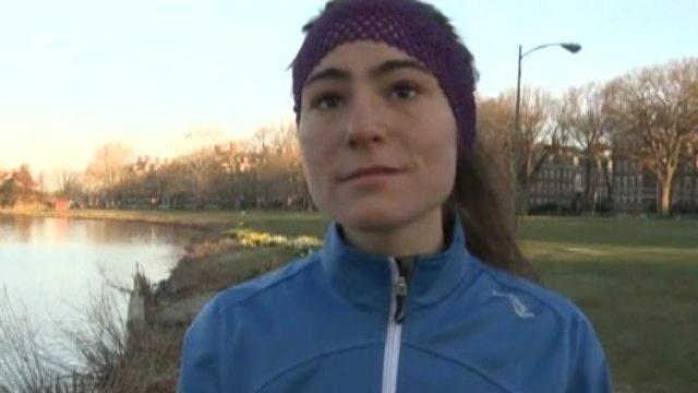 A runner in Boston