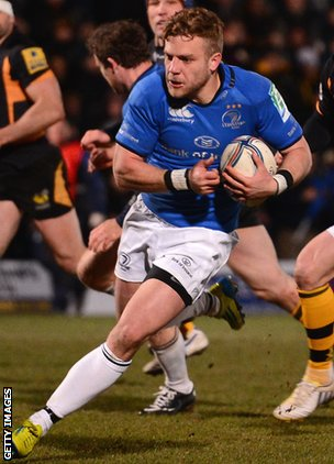 Ian Madigan carves up the Wasps defence on his way to a try in the Heineken Cup