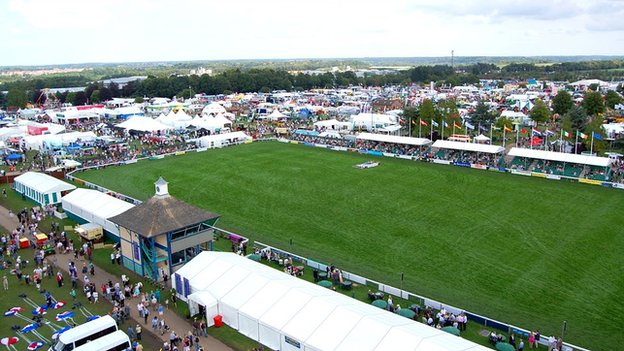 Aerial view of Royal Norfolk Show 2011