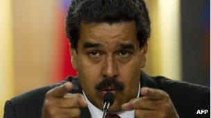 Venezuela's President-elect Nicolas Maduro (16 April)