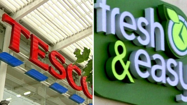Tesco and Fresh & Easy logos