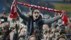 Cardiff City fan celebrates