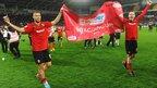 Cardiff City player celebrate