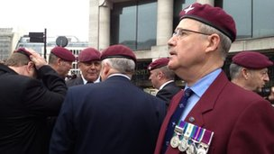 Falklands veterans at Ludgate Circus
