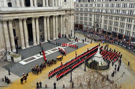 Margaret Thatcher's funeral 2013