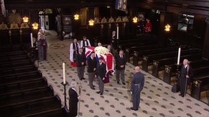 Coffin at St Clement Danes