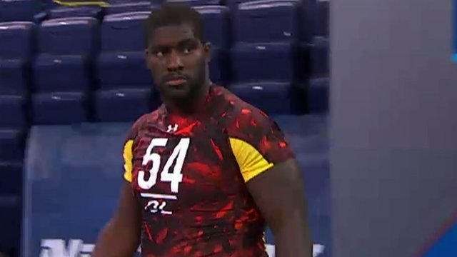 Menelik Watson during his NFL trial