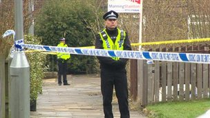 Police outside property in Meanwood