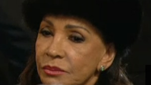 Dame Shirley Bassey at the funeral