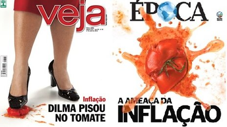 Covers of Brazilian weekly magazines