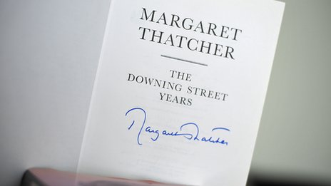 Bill Sharp has three signed copies of The Downing Street Years by Margaret Thatcher