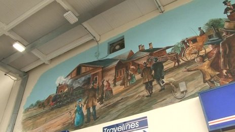 Mural at Banbury station