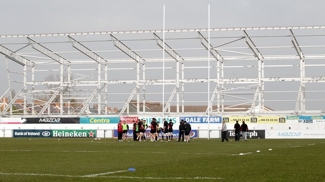 New stand under construction at Ravenhill