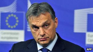 Prime Minister Viktor Orban of Hungary in Brussels, 30 Jan 13