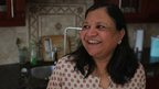 Asha Jain in her kitchen