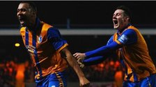 Mansfield striker Matt Green celebrates another goal