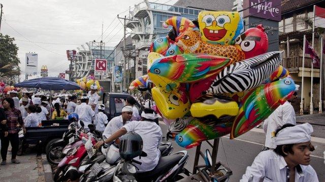 Street scene in Bali, Indonesia
