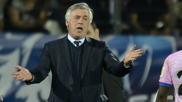 Paris St-Germain manager Carlo Ancelotti