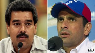 Nicolas Maduro and Henrique Capriles