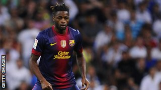 Barcelona's Alex Song