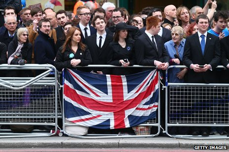 Crowds pay their last respects to Baroness Thatcher