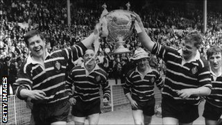 Featherstone's 1967 Challenge Cup winning team