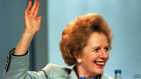 Margaret Thatcher in 1989