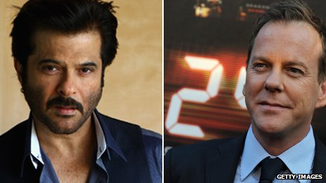 Anil Kapoor and Kiefer Sutherland