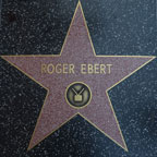 Roger Ebert's star on the Hollywood Walk of Fame
