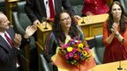 New Zealand lawmaker Louisa Wall after the Marriage Amendment Bill was passed at Parliament April 17 2013.