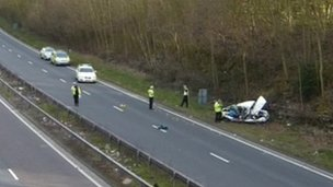 Scene of A2 accident
