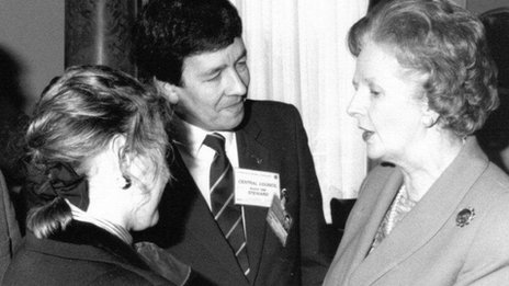 Graham Smith with Mrs Thatcher in  Buxton 1989