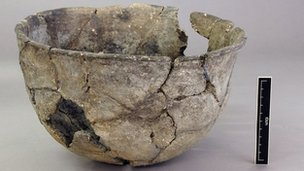 The Neolithic bowl found